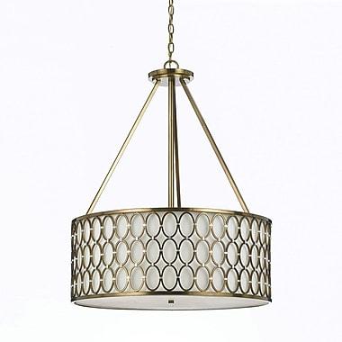 AF Lighting Large Cosmo Pendant, Satin Brass (82185H)