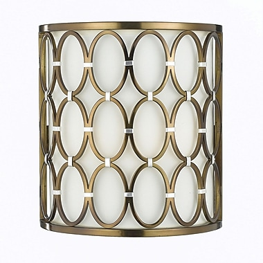 AF Lighting Cosmo Wall Sconce, Satin Brass (82202W)