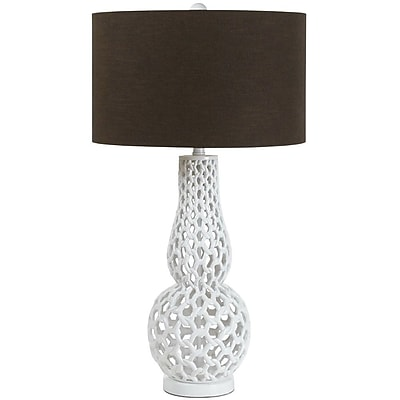 AF Lighting Chain Link Table Lamp, White (8278TL)