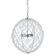 AF Lighting Large Round Silver Web Pendant (82853H)
