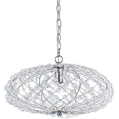 AF Lighting Oval Silver Web Pendant (82861H)