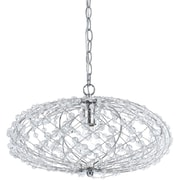 AF Lighting Oval Silver Web Pendant (82861H)