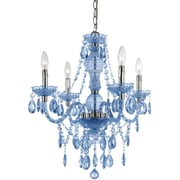AF Lighting Naples Four Light Mini Chandelier, Light Blue (83524H)