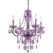 AF Lighting Naples 4-Light Mini Chandelier, Light Purple (83534H)