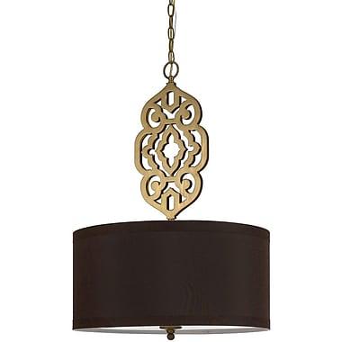 AF Lighting Grill Pendant, Satin Brass (84224H)