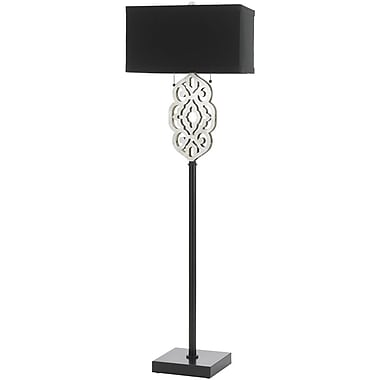 AF Lighting Grill Floor Lamp, Silver and Black (8423FL)