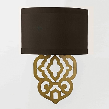 AF Lighting Grill Wall Sconce, Gold Foil (84252W)