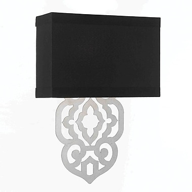 AF Lighting Grill Wall Sconce, Silver Foil (84262W)