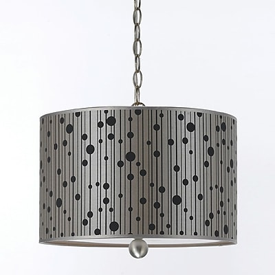 AF Lighting 8441 Pendant, Grey Shade (84413H)