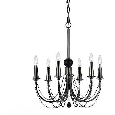 AF Lighting 8448 Metal 6 Candle Base Chandelier (84486H)