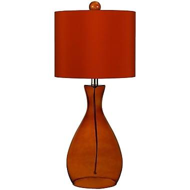 AF Lighting Mercer Hand-Blown Glass Table Lamp, Orange (8516TL)