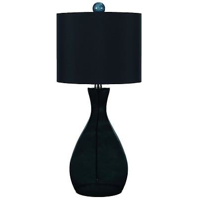AF Lighting Mercer Hand-Blown Glass Table Lamp, Dark Green (8517TL)