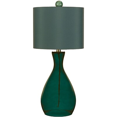 AF Lighting Mercer Hand-Blown Glass Table Lamp, Sea Blue (8518TL)