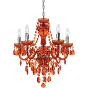 AF Lighting Fulton 5 Light Chandelier, Orange (85225H)