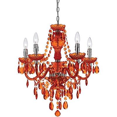 AF Lighting Fulton 5 Light Chandelier, Orange (85225H)