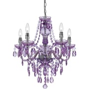 AF Lighting Fulton 5-Light Chandelier, Grape (85265H)