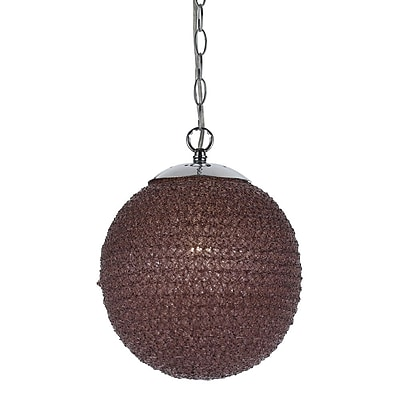 AF Lighting Chloe Pendant Light, Grape (85471H)