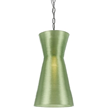 AF Lighting 40 Watt Aimee Mini Recycled Woven Plastic Pendant, Lamp, Green (85791P)