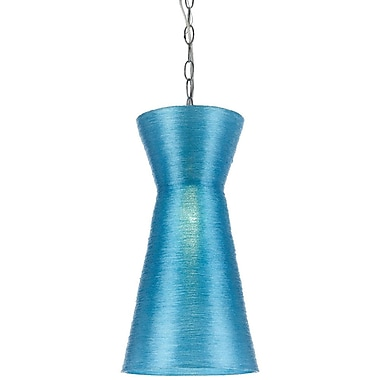 AF Lighting Aimee Mini Recycled Woven Plastic Pendant, Blue (85811P)