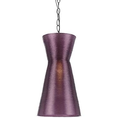 AF Lighting Aimee Mini Recycled Woven Plastic Pendant, Grape (85821P)