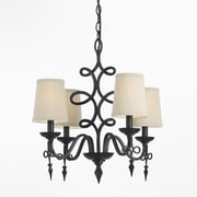 AF Lighting 8601 Mini Chandelier, Oil Rubbed Bronze (86014H)