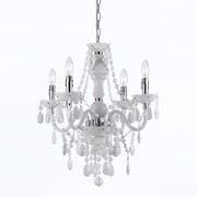 AF Lighting Naples 4-Light Mini Chandelier, White (86804H)