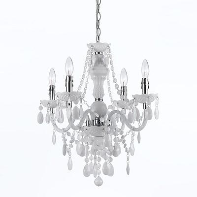 AF Lighting Naples 4-Light Mini Chandelier, White (86804H)