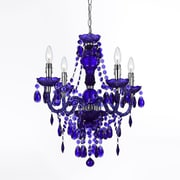 AF Lighting Naples 4-Light Mini Chandelier, Purple