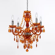 AF Lighting Naples 4-Light Mini Chandelier, Orange (86824H)
