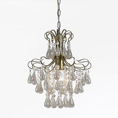 AF Lighting Tiffany Mini Chandelier, White Pearl (86931H)