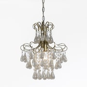 AF Lighting Tiffany Mini Chandelier, White Pearl (86931H)