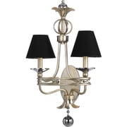 AF Lighting Cirque Two Light Sconce, Black Shades (87022W)
