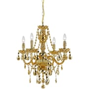 AF Lighting Naples Four Light Mini Chandelier, Gold (89124H)