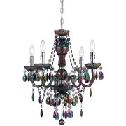 AF Lighting Naples 4-Light Mini Chandelier, Iridescent Smoke (90014H)