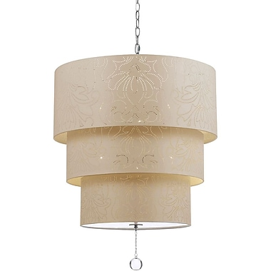 AF Lighting Over The Top Pendant, Cream (90085H)