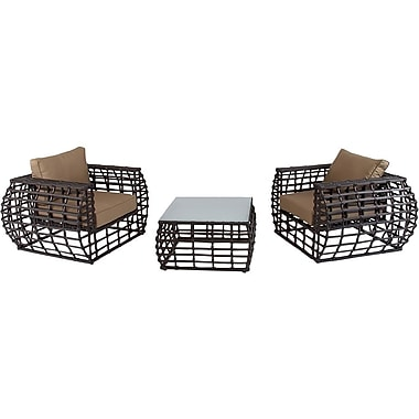 Hanover Outdoor Furniture Soho 3-Piece Outdoor Lounge Set