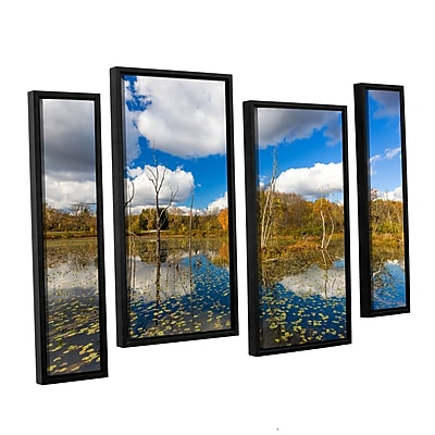 Artwall 'Beaver Marsh' 4-Piece Floater Canvas Staggered Set 24