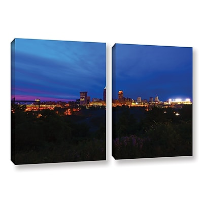 ArtWall 'Cleveland 3' 2-Piece Gallery-Wrapped Canvas Set 32