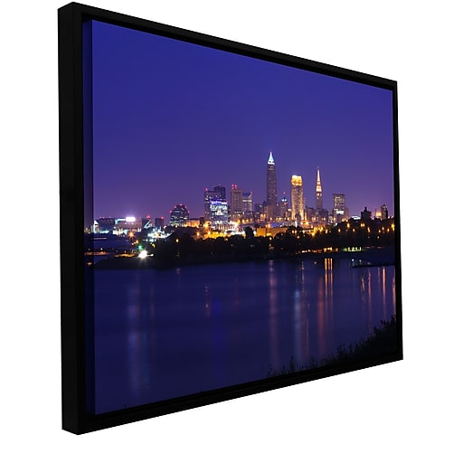 """ArtWall 'Cleveland 18' Gallery-Wrapped Canvas 24"""" x 36"""" Floater-Framed (0yor031a2436f)"""