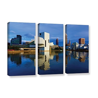 ArtWall 'Cleveland 2' 3-Piece Gallery-Wrapped Canvas Set 36
