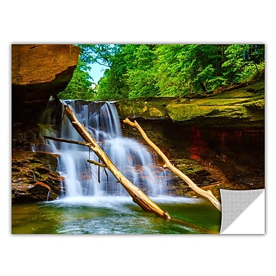 ArtWall 'Brecksville Falls' Art Appeelz Removable Wall Art Graphic 24