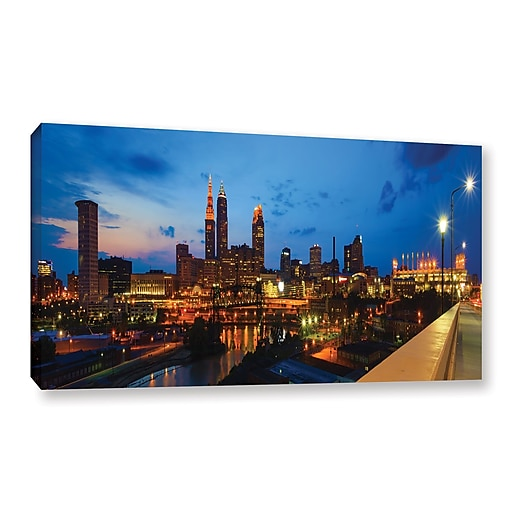 "ArtWall 'Cleveland 8' Gallery-Wrapped Canvas 12"" x 24"" (0yor021a1224w)"