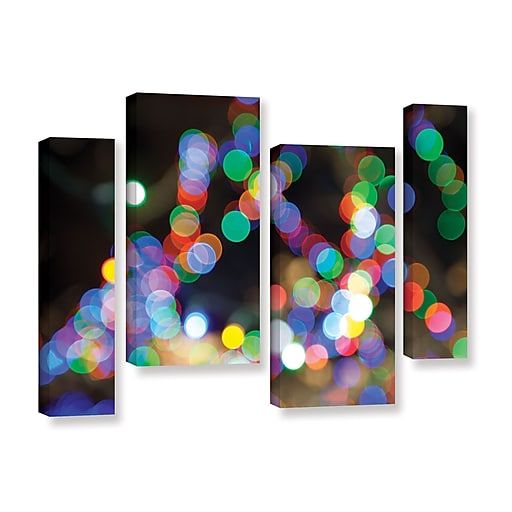 """ArtWall 'Bokeh 1' 4-Piece Gallery-Wrapped Canvas Staggered Set 36"""" x 54"""" (0yor005i3654w)"""