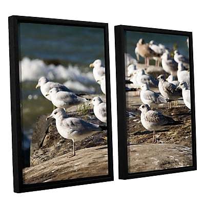 ArtWall 'Pigeons' 2-Piece Canvas Set 32