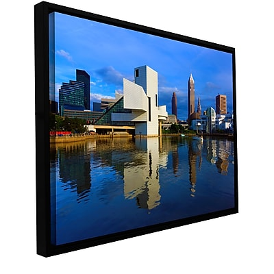 ArtWall 'Cleveland 2' Gallery-Wrapped Floater-Framed Canvas 24