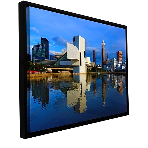 "ArtWall 'Cleveland 2' Gallery-Wrapped Canvas 12"" x 18"" Floater-Framed (0yor015a1218f)"