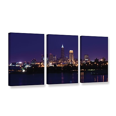 ArtWall 'Cleveland 16' 3-Piece Gallery-Wrapped Canvas Set 24