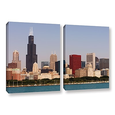 ArtWall 'Chicago' 2-Piece Gallery-Wrapped Canvas Set 32