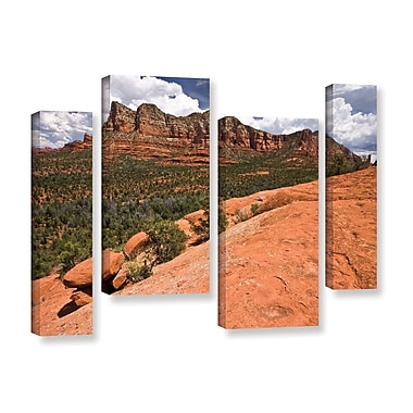 ArtWall 'Sedona' 4-Piece Gallery-Wrapped Canvas Staggered Set 36