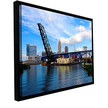 ArtWall 'Cleveland 12' Gallery-Wrapped Floater-Framed Canvas 32